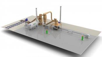 Линия по производству топливных брикетов - 0,5 т/ч
