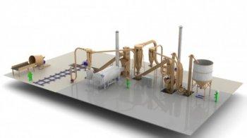 Завод по производству топливных гранул - 1 ... 1,5 т/час с измельчителем соломы