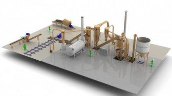 Завод по производству топливных гранул - 1 ... 1,5 т/час многосырьевой