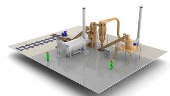 Комплект оборудования для производства древесной муки мощностью 0,5 т/час